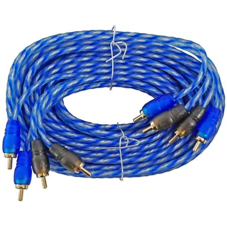 Rockville RTR174 17' 4 Channel Twisted Pair RCA Cable Split Pin, 100 Percent Copper ()