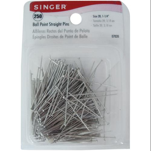 Ball Point Straight Pins-Size 20 250/Pkg