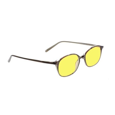 Night Driving Glasses With Canary Yellow Polycarbonate Double Sided Anti-Reflective Coating-Black Plastic Frame - (Polycarbonate Glasses Wholesale)