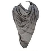 Religion Unisex Cotton Striped Blanket Scarf One Size Light Grey