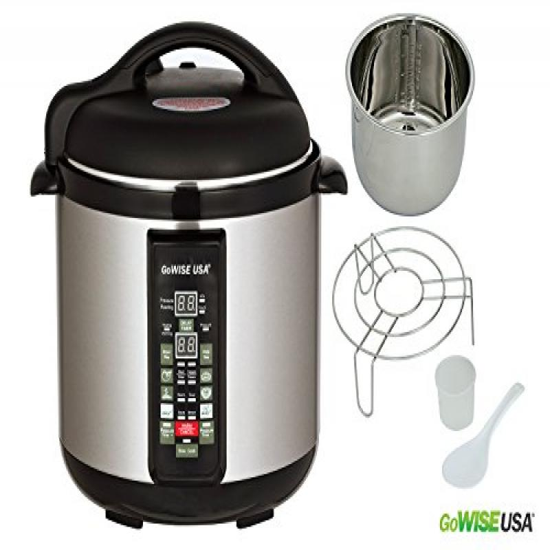 GoWISE USA Stainless-steel Cooking Pot/ 6-in-1 Electric P...