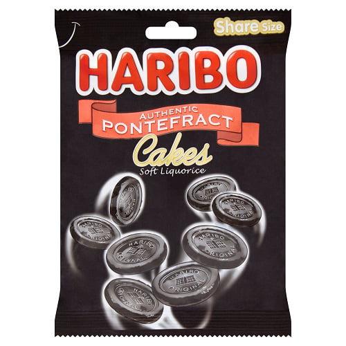 Haribo Pontefract Cakes Bag  (Pack of 12)