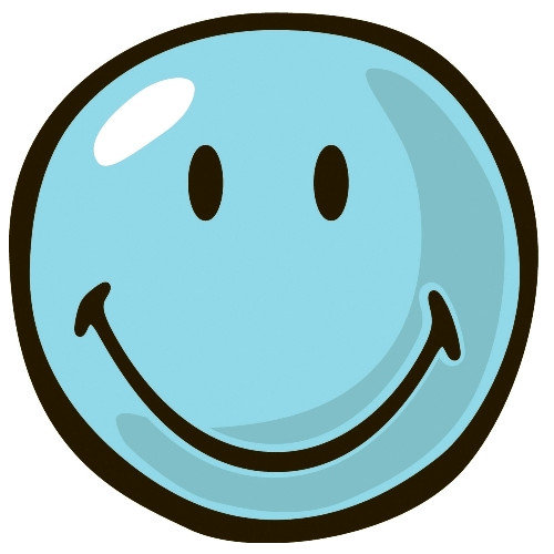 Fun Rugs Smiley World Blue Smiley Area Rug