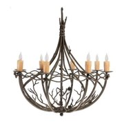 8 Arm Chandelier with Amber Drip Candle Cover