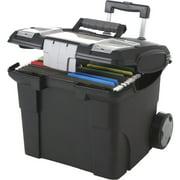 Storex Premium File Cart, Black