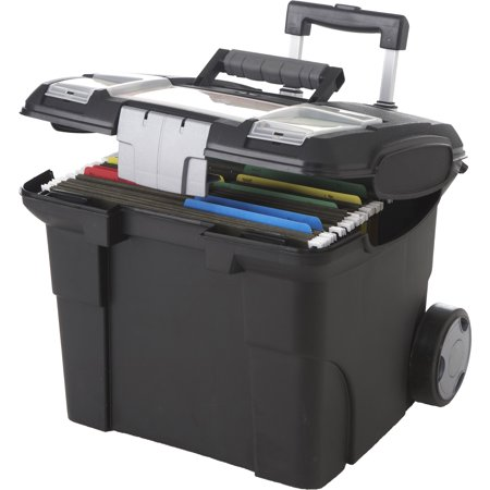 Storex, STX61507U01C, Premium File Cart, 1 / Each, Black