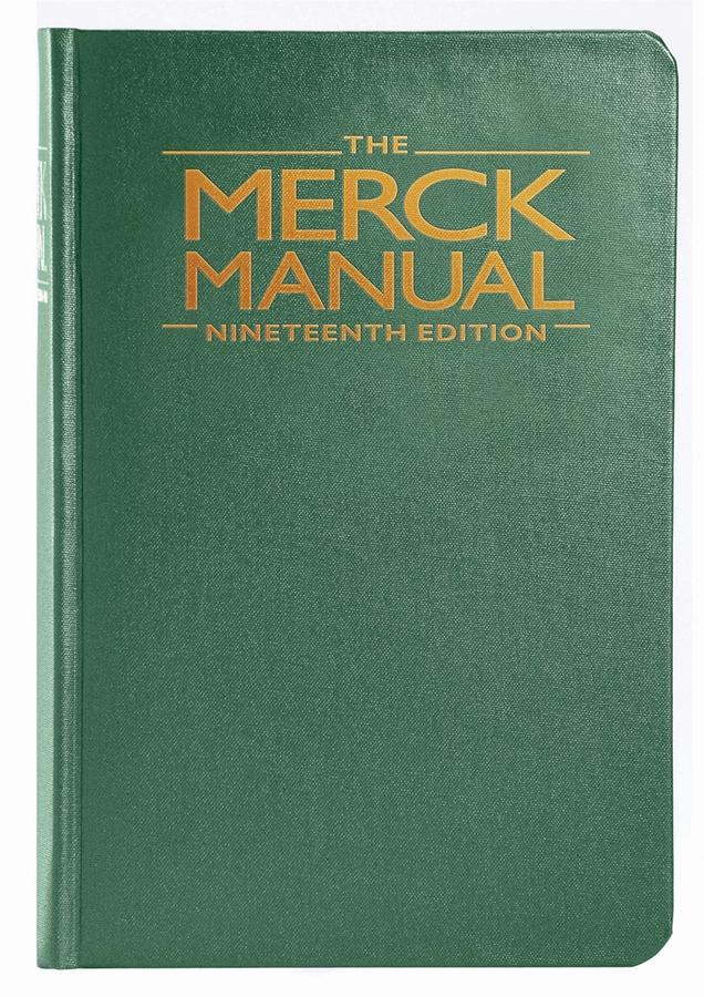 merck manual of diagnosis therapy hardcover the merck manual of rh walmart com merck manuel of diagnosis and therapy 15e merck manual of diagnosis & therapy