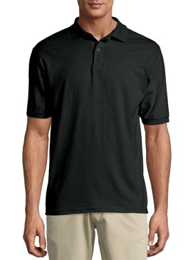Hanes Men's Ecosmart Jersey Polo Shirt
