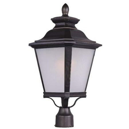 Outdoor Post Light Bulb Fixture 1 Light Bulb Fixture With Bronze Tone Finish MB Bulb Type 9 inch 100 Watts