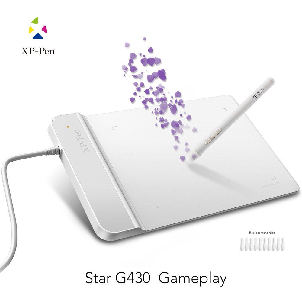 XP-Pen G430 OSU Tablet Ultrathin Graphic Tablet 4 x 3 inch Digital Tablet Drawing Pen Tablet for osu! White