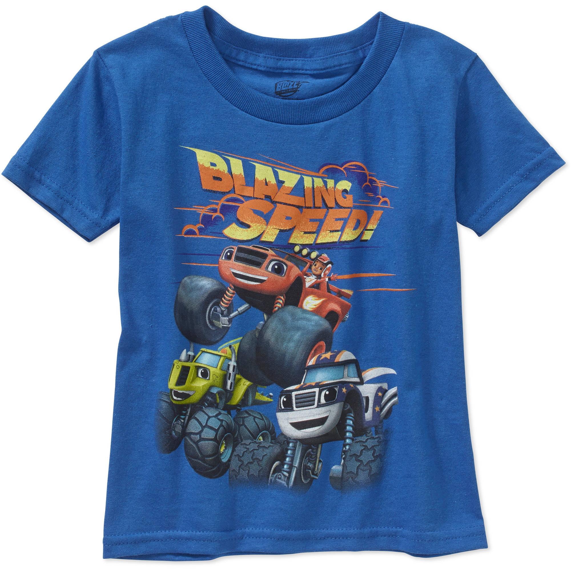 Nickelodeon Blaze Blazing Speed Toddler Boy Short Sleeve Graphic Tee