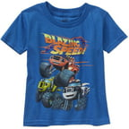 Nickelodeon Blaze Blazing Speed Toddler Boy Short Sleeve Graphic Tee