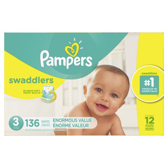 9885c7713 Pampers Swaddlers Diapers (Choose Size and Count) - Walmart.com