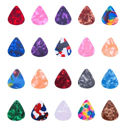 20 PCS Stylish Colorful Celluloid Guitar Picks Plectrums for Guitar Bass -