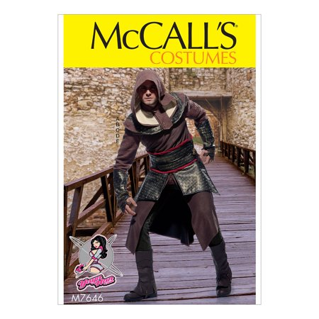 McCall's Sewing Pattern Men's Tunic, Top, Capelet, Belt, and Gauntlets