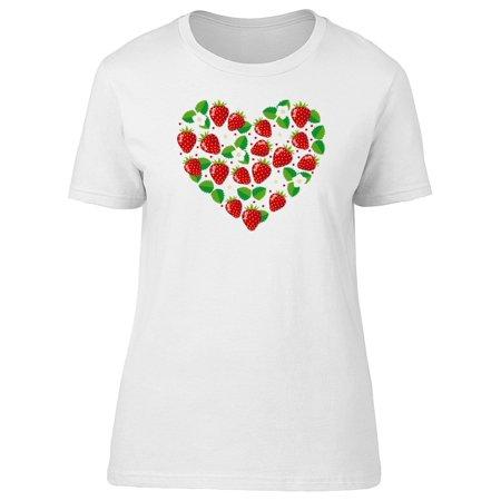 Strawberries Shaped Heart Tee Women's -Image by Shutterstock