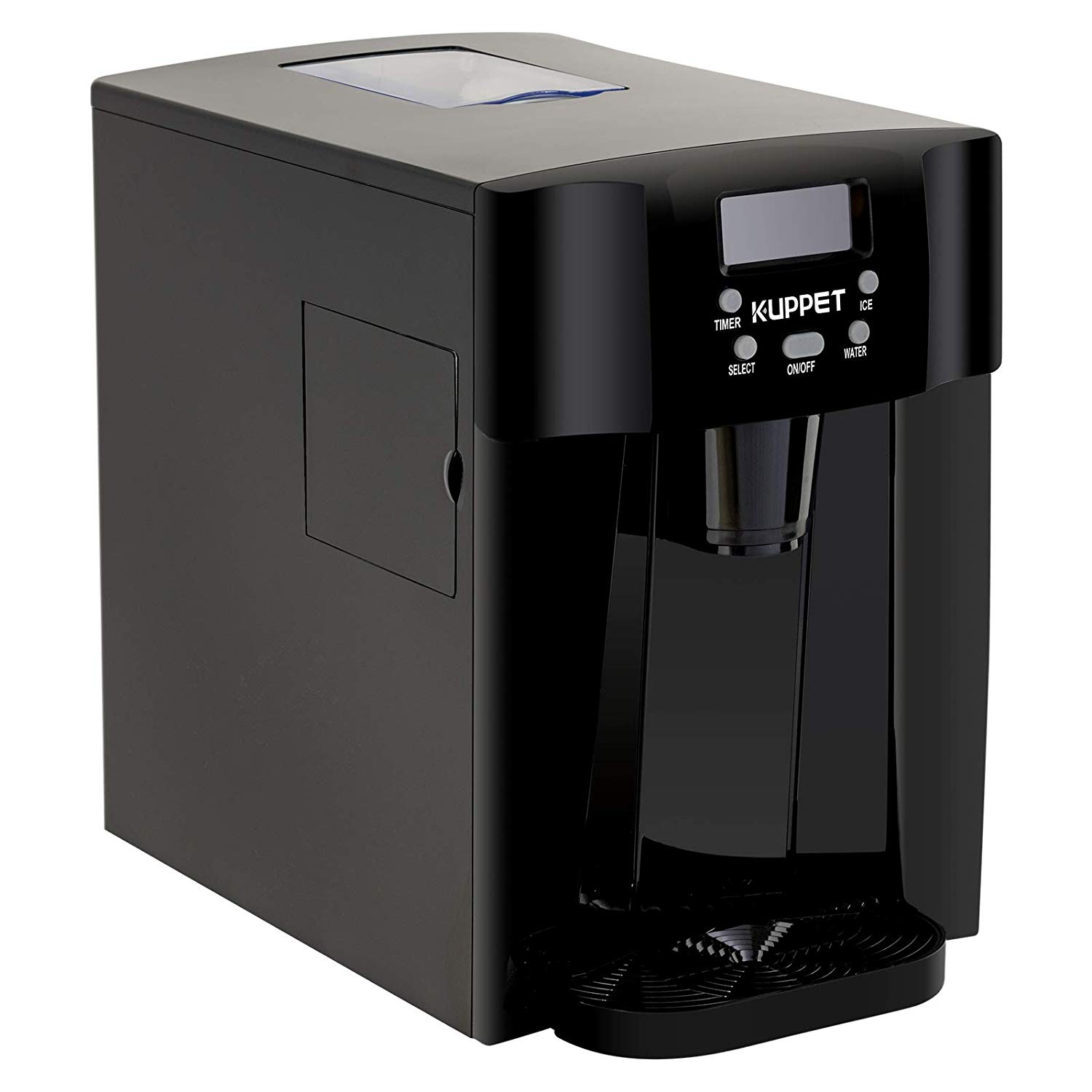 LED Display Silver Produces 36 lbs Ice in 24 Hours Ready in 6min KUPPET 2 in 1 Countertop Ice Maker