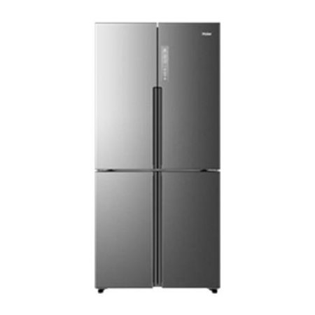 HRQ16N3BGS 33 4 Door Refrigerator Door Refrigerator with 16.4 cu. ft. Capacity  Counter Depth  Sabbath Mode  Forced Air Cooling  LED Lighting and Quick Chill/Quick Freezer  in Stainless Steel