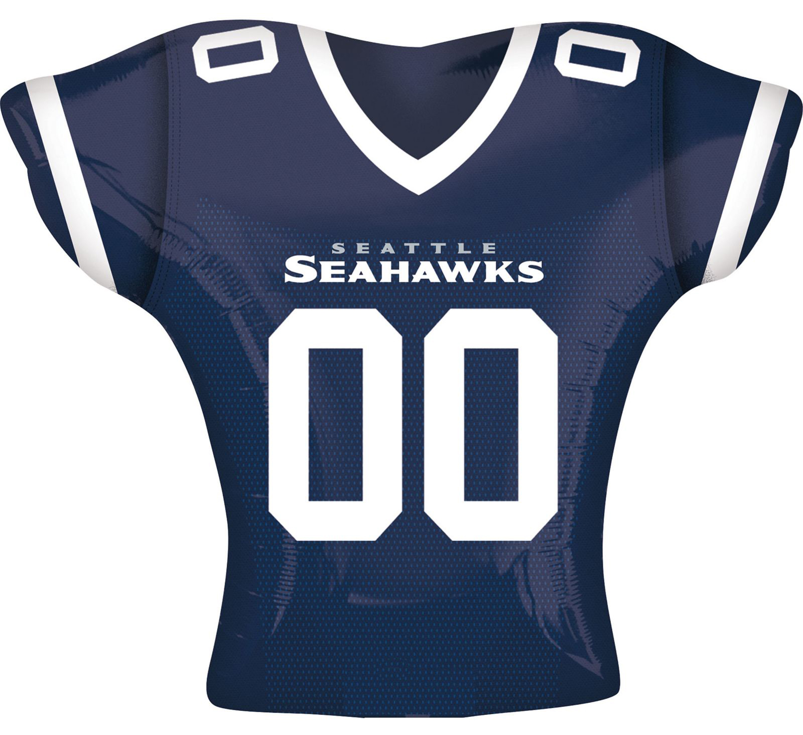 "Seattle Seahawks Football Jersey Super Shape 26"" Foil Balloon, Navy White Lime"
