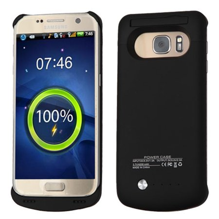Insten 4200 Mah Rubberized Quantum Energy Battery Case For Samsung Galaxy S7   Black