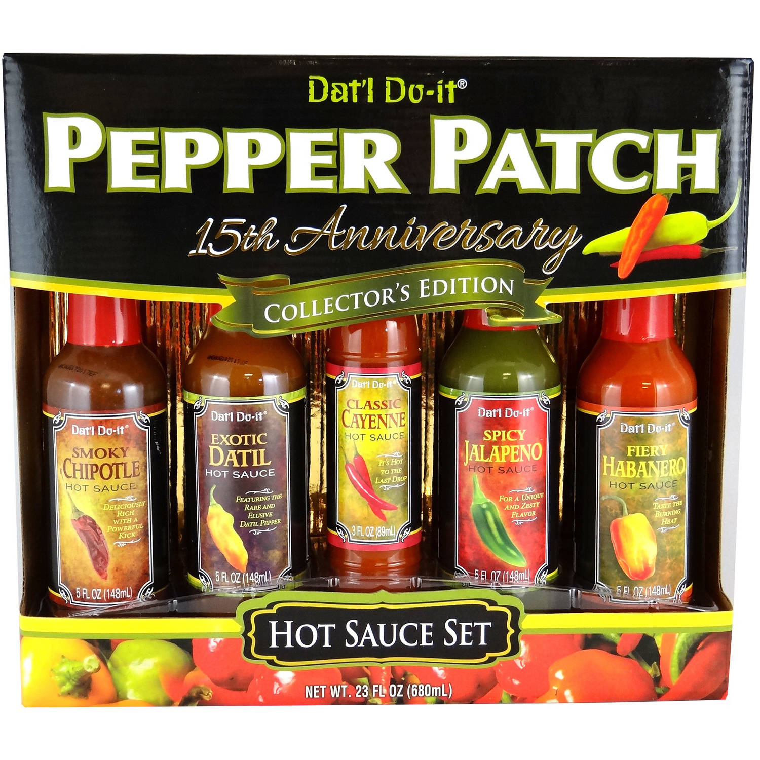 Dat'l Do It Pepper Patch Hot Sauce Holiday Gift Set, 5 piece