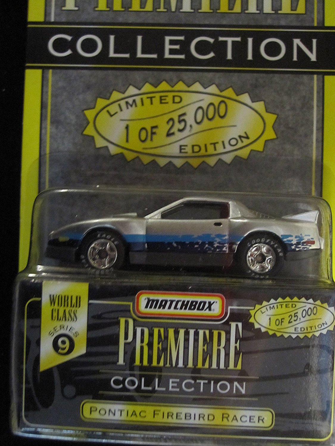 Premiere Pontiac Firebird Racer Series 9 (34312) Color Silver, By Matchbox by