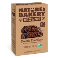 Nature's Bakery Whole Wheat Chocolate Brownie Bars, 10 Twin Packs, 2 Oz each