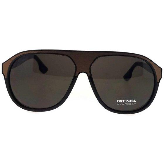 7e9cb446ff DIESEL - Diesel DL0082-48J-62 Aviator Men s Brown Frame Roviex Lens Genuine  Sunglasses - Walmart.com