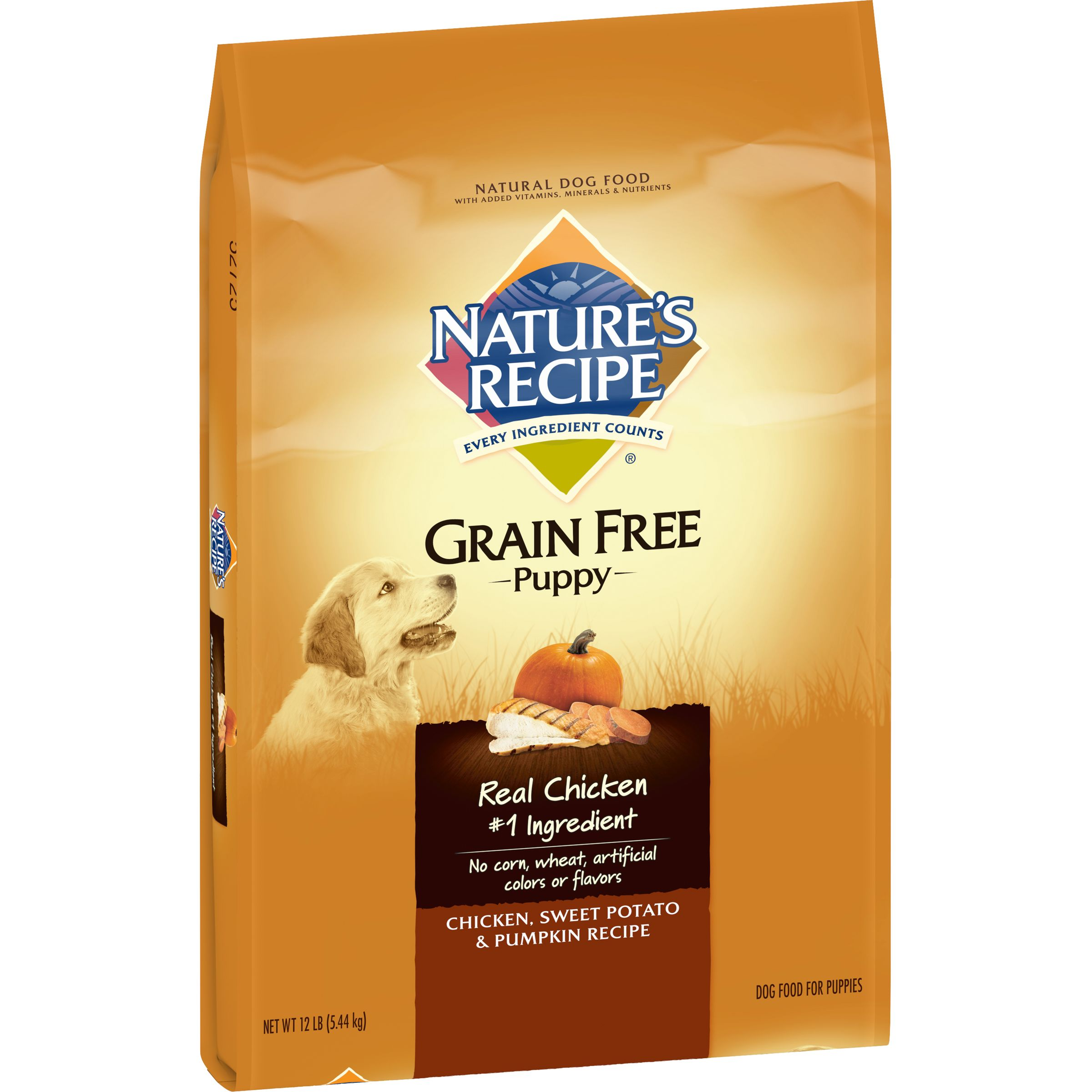 nature's recipe grain free puppy chicken, sweet potato & pumpkin
