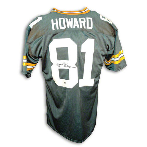 "NFL - Desmond Howard Autographed Green Bay Packers Green Throwback Jersey Inscribed ""SB XXXI MVP"""
