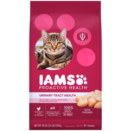 Iams Proactive Health Adult Urinary Tract Health with Chicken Dry Cat Food, 3.5