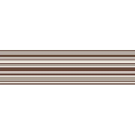 Fine Decor Chocolate Horizontal Stripe Peel & Stick