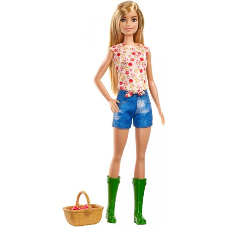 Barbie Sweet Orchard Farm Doll, Blonde with Basket & Apples