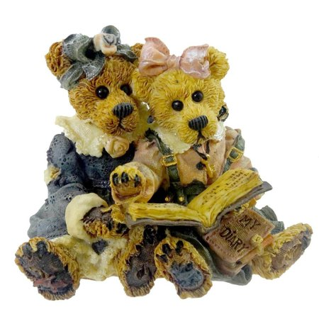Boyds Bears Resin (Bailey & Becky The Diary Friend Bearstone - Resin 3.00 IN, Product Number: 228304 RFB By BOYDS BEARS)