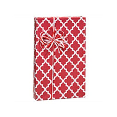 Hot Red Geo Graphic Tiles Birthday / Special Occasion Gift Wrap Wrapping (Hot Rod Gto)