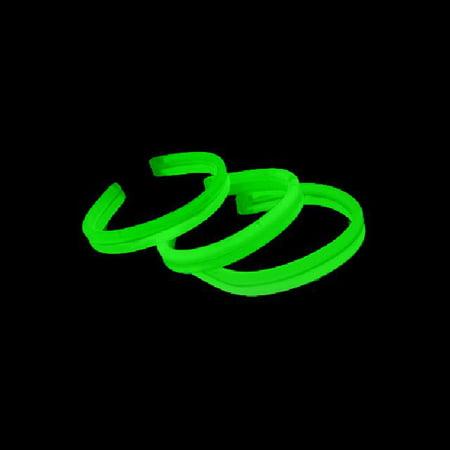 8 Twister Glow Stick Bracelets, Green, 120 ct - Bracelet Light