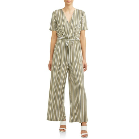 Women's Surplice Wide Leg Jumpsuit - Ted Jumpsuit