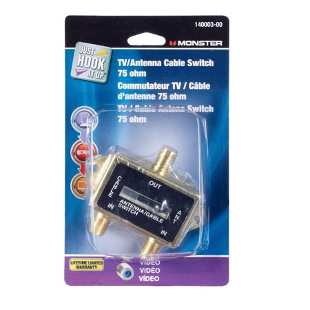 Monster Cable Tv Antenna Cable Switch 75 Ohm Gold Carded ()