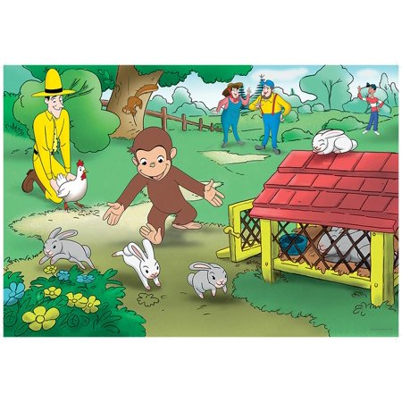 Usa Fun Facts Floor Puzzle (Curious George Fun (24 PC Floor Puzzle) (Other) )