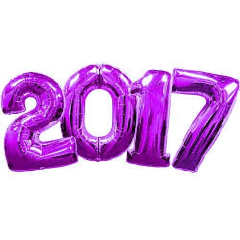 Large Purple Number 2017 Balloons