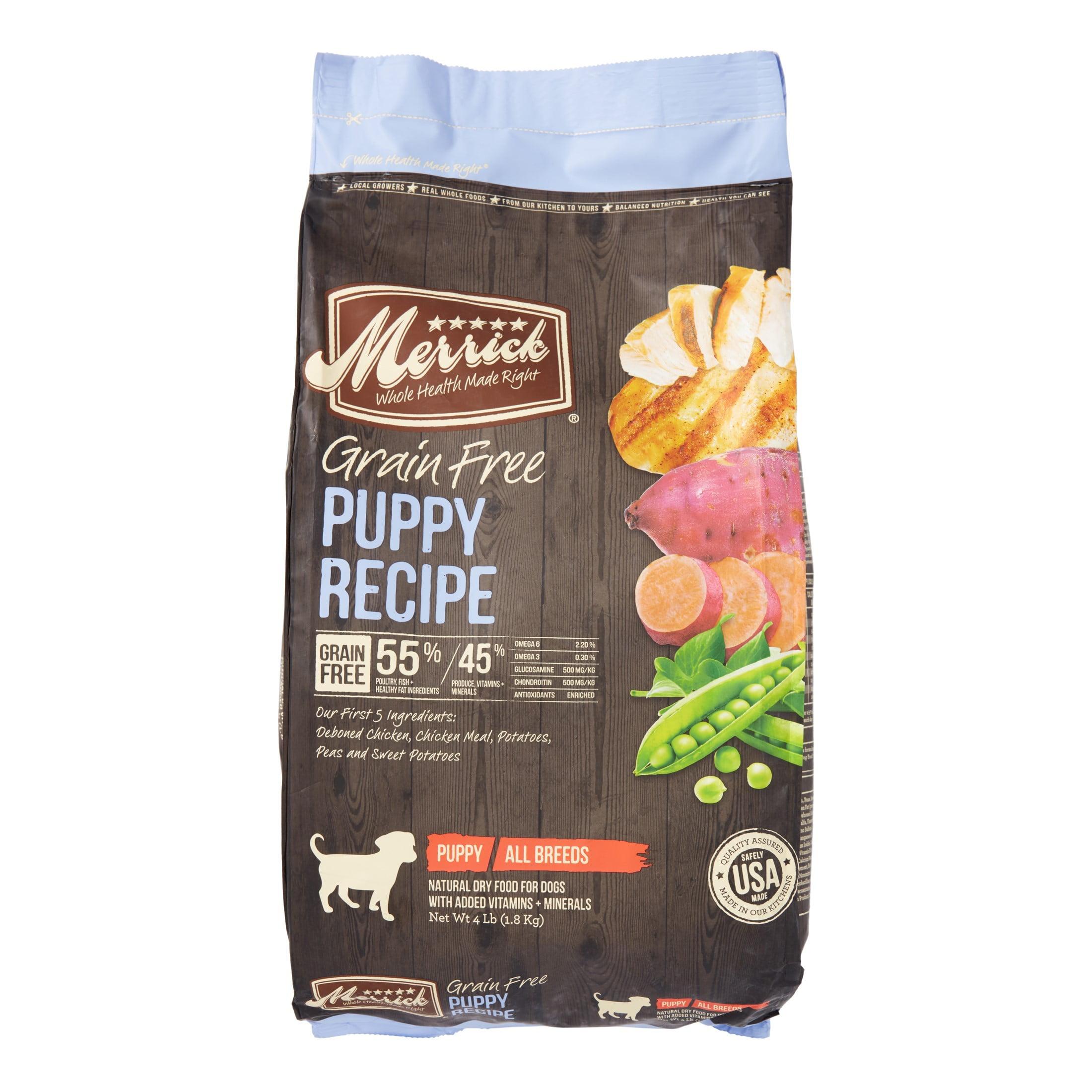 Merrick Grain-Free Puppy Recipe Dry Dog Food, 4lb