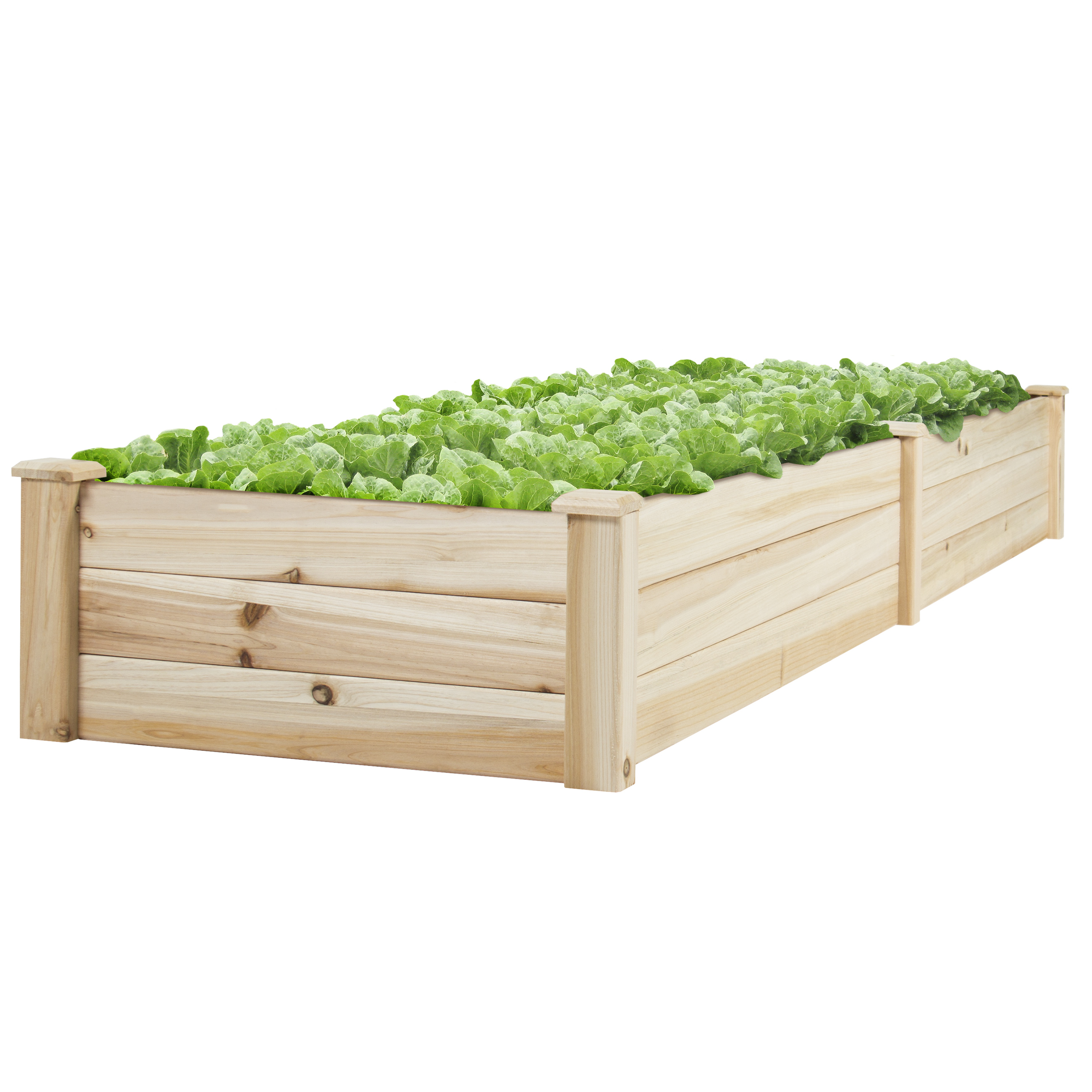 Best Choice Products BCP Wooden Raised Vegetable Garden Bed Patio Backyard Grow Flowers Elevated Planter