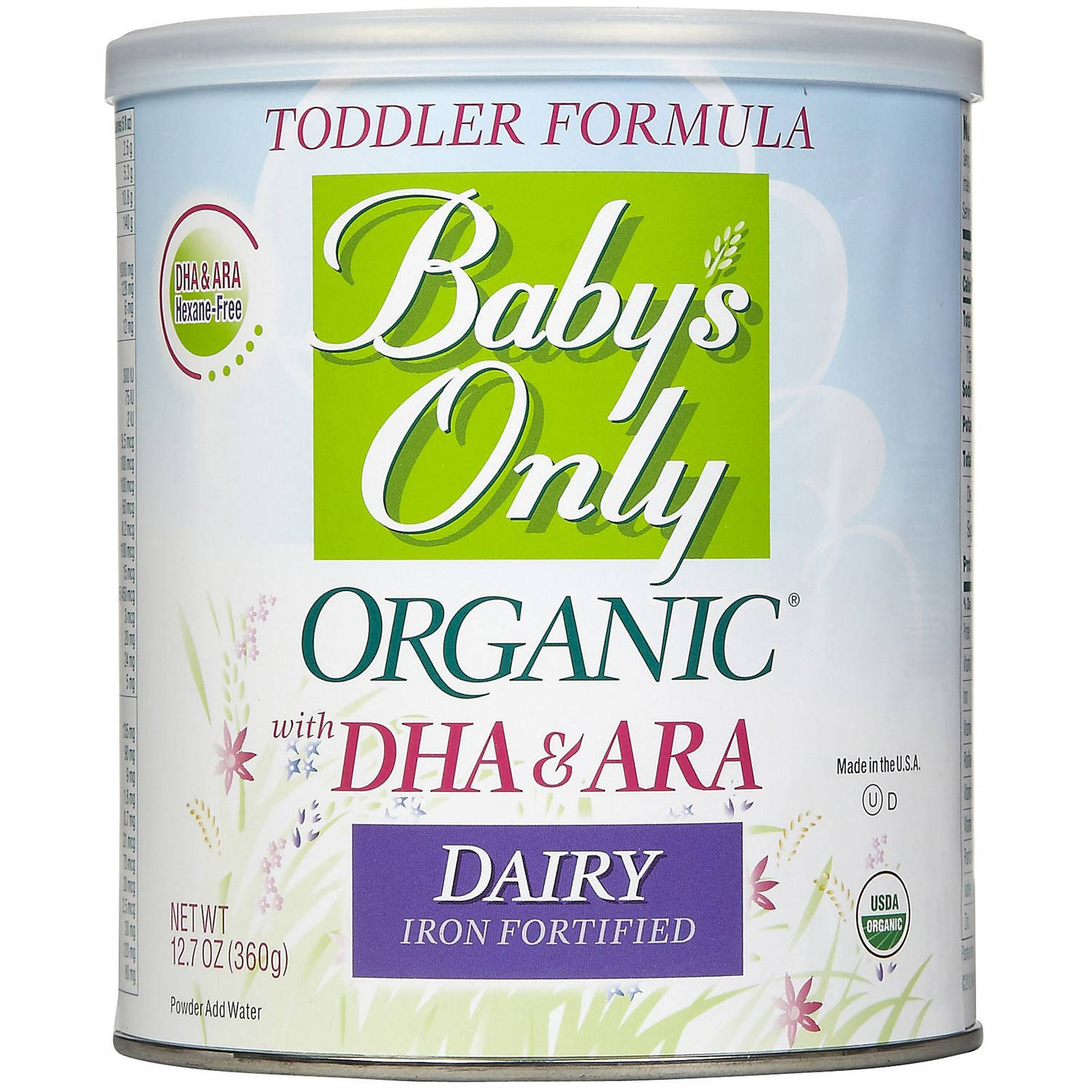 Baby's Only Organic Baby's Dairy with DHA & ARA Formula, 12.7 oz (Pack of 6)