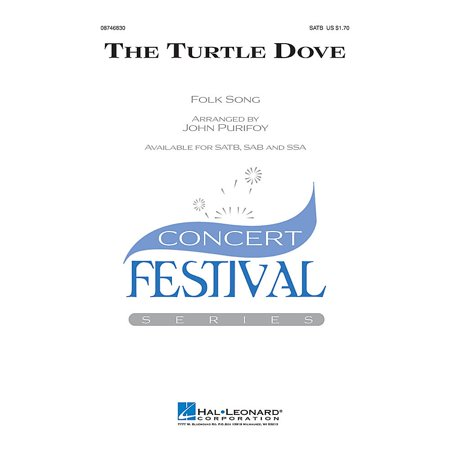 Hal Leonard The Turtle Dove SAB Arranged by John - Turtle Dove Meaning