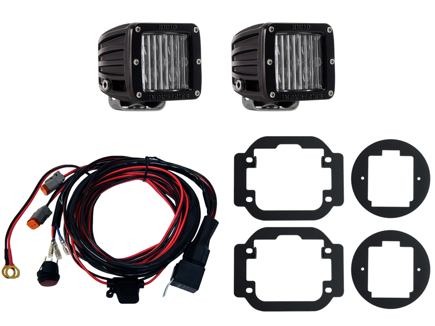 Rigid Industries Wiring Harness Electrical Diagrams 465843 Sae Fog Kit Includes Mounts 2 D Series Led Q
