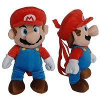 "Plush Backpack - Super Mario Bros. Mario 14"" New 380358"