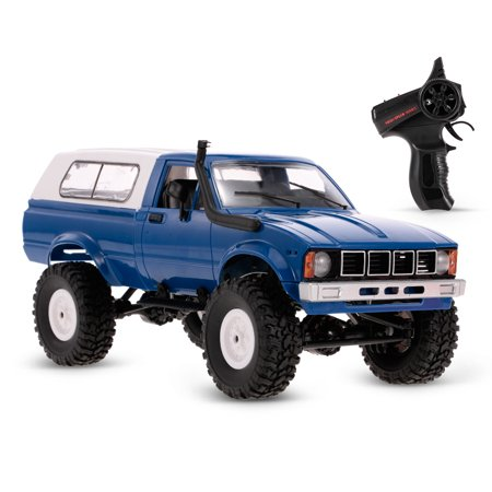 WPL C24 1/16 RC Car Crawler Off-Road With Headlight 4WD Pick-up Truck Gift for Kids RTR ()
