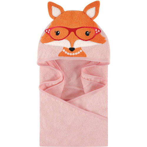 Woven Terry Animal Hooded Towel, Foxy