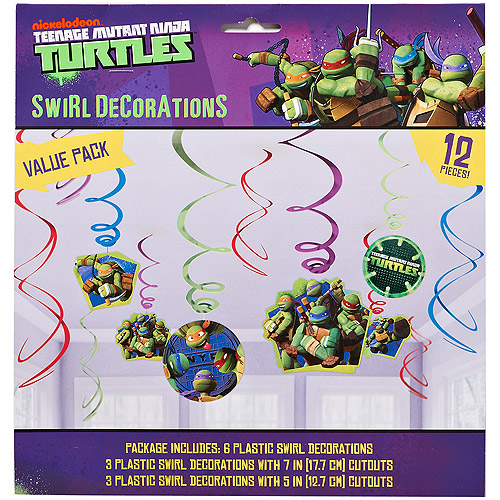 Teenage Mutant Ninja Turtles Hanging Party Decorations, Party Supplies