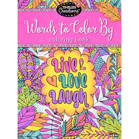 Timeless Creations Words To Color By 64 Page Premium Quality Adult Coloring  Book By Cra-Z-Art